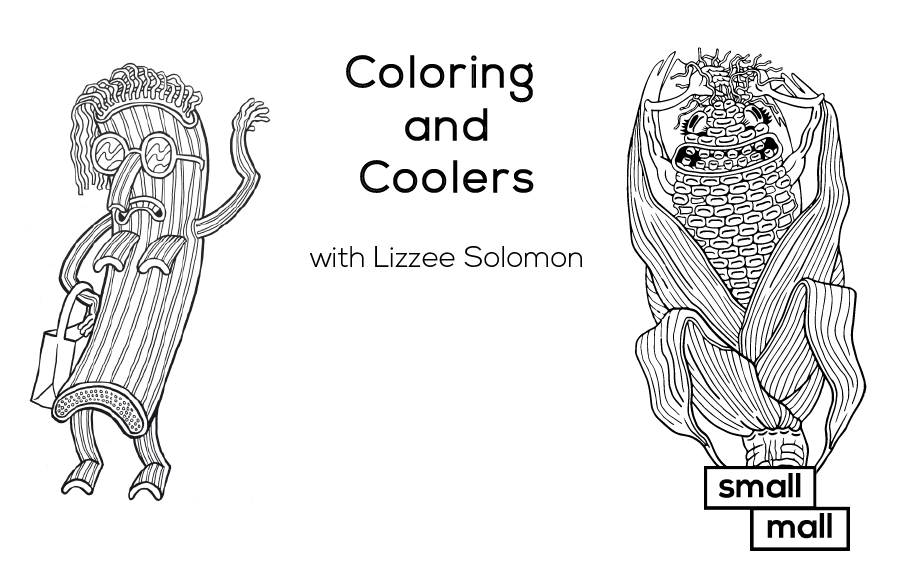 Artist Lizzee Solomon and Small Mall come together to host a night of coloring and cooler sipping for National Coloring Day