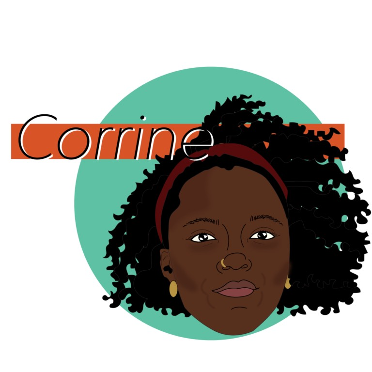 Jasmin works in Pittsburgh as an event coordinator, workshop instructor, writer, and artist. She has exhibited work and given poetry readings and performances in various spaces throughout Pittsburgh. Her work often floats around the Black queer narrative. Corrine regularly works towards creating and hosting platforms for artists of color and women.