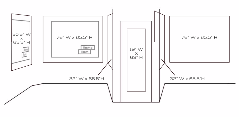 Small Mall's Window Display Layout and Dimensions