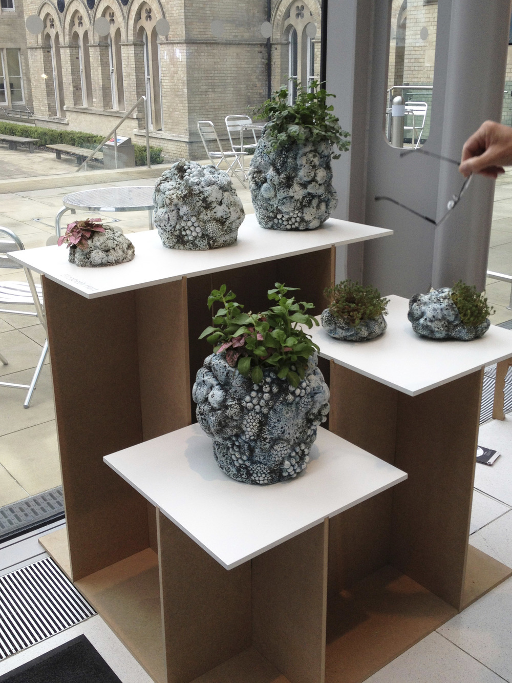 """Elizabeth Hart """"Sculptural ceramic garden ware with a focus on texture and pattern."""""""