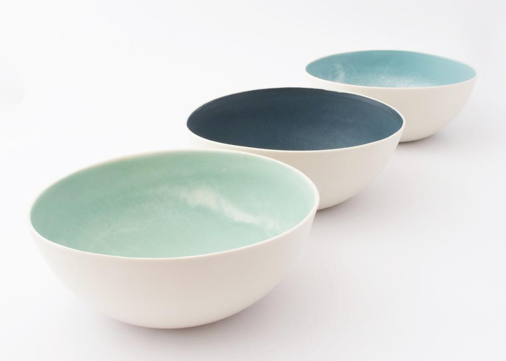 Large Seasalt Bowls- mint, teal & aqua