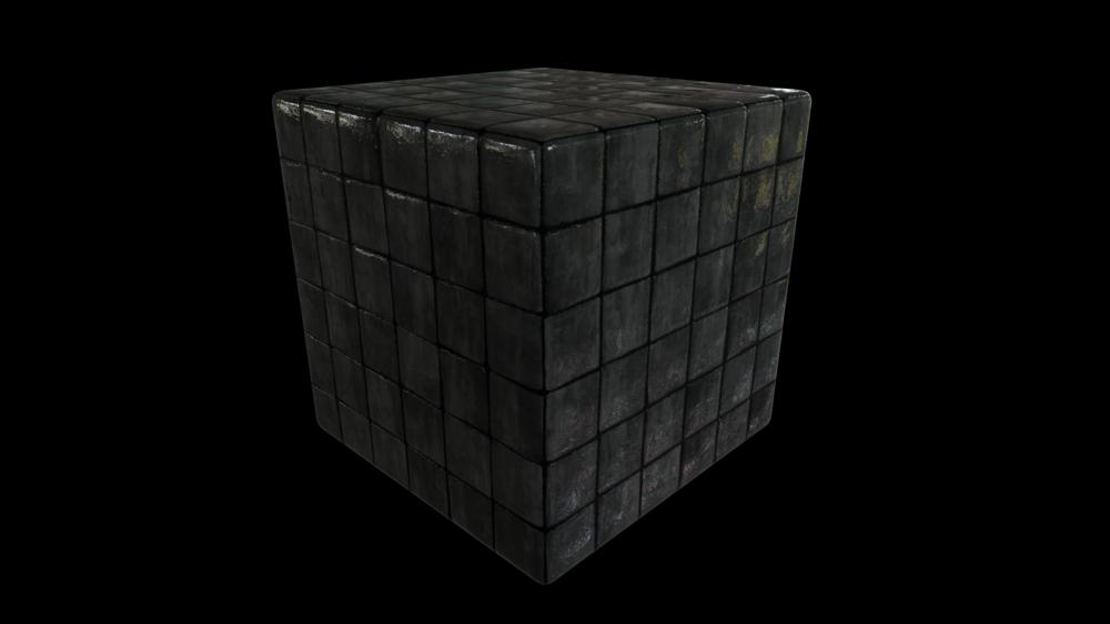 Wet stone tiles - 3/4 view