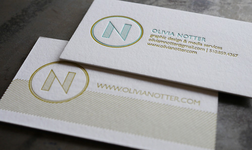 Hoban press business cards olivia notter graphic design media the good folks at hoban press took a great photo of the letterpress business cards they did for me and said some kind words over on their site colourmoves