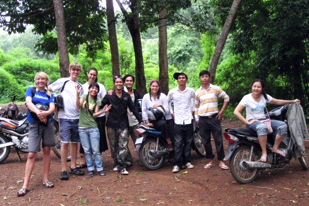 Allison and her new friends in Cambodia during a summer internship in 2007.