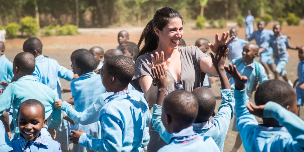 VISITING WITH THE AMAZING STUDENTS OF THE STELLA MARIS SCHOOL IN MOSHI, TANZANIA.  PHOTO CREDIT: NICOLA BAILEY