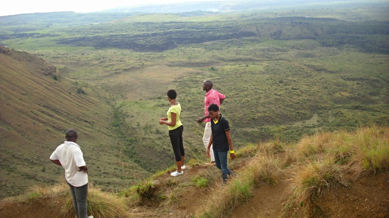 Siodi and her friends on Menengai Crater