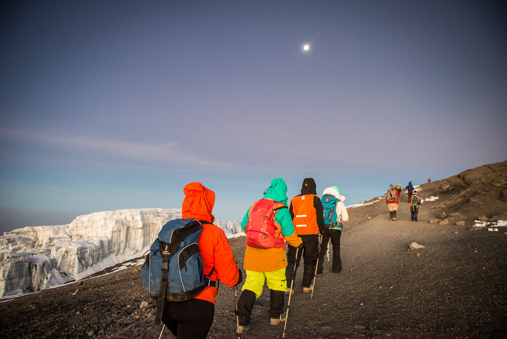Kilimanjaro Summit Full Moon