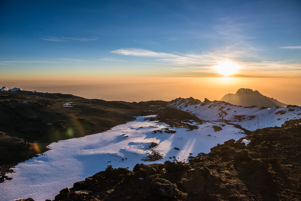 Summit of Kilimanjaro at sunrise
