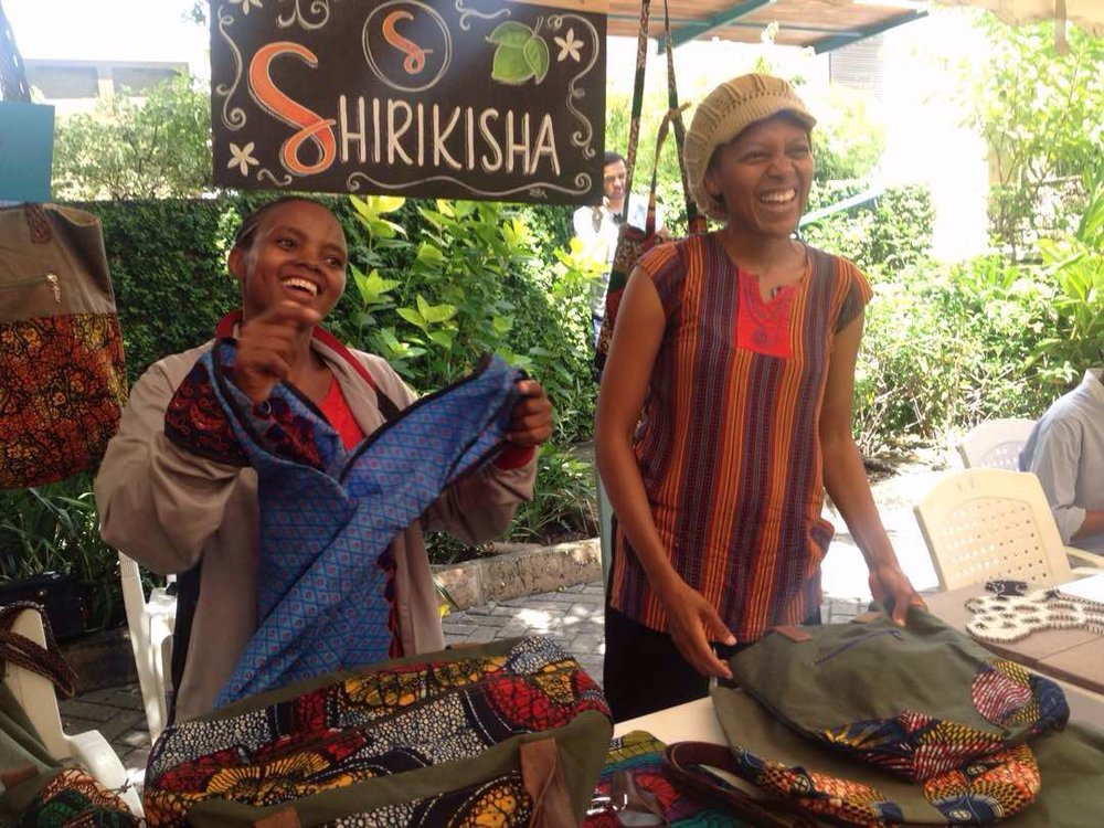 Cocaya (on the right) with one of her best friends and Shirikisha team members