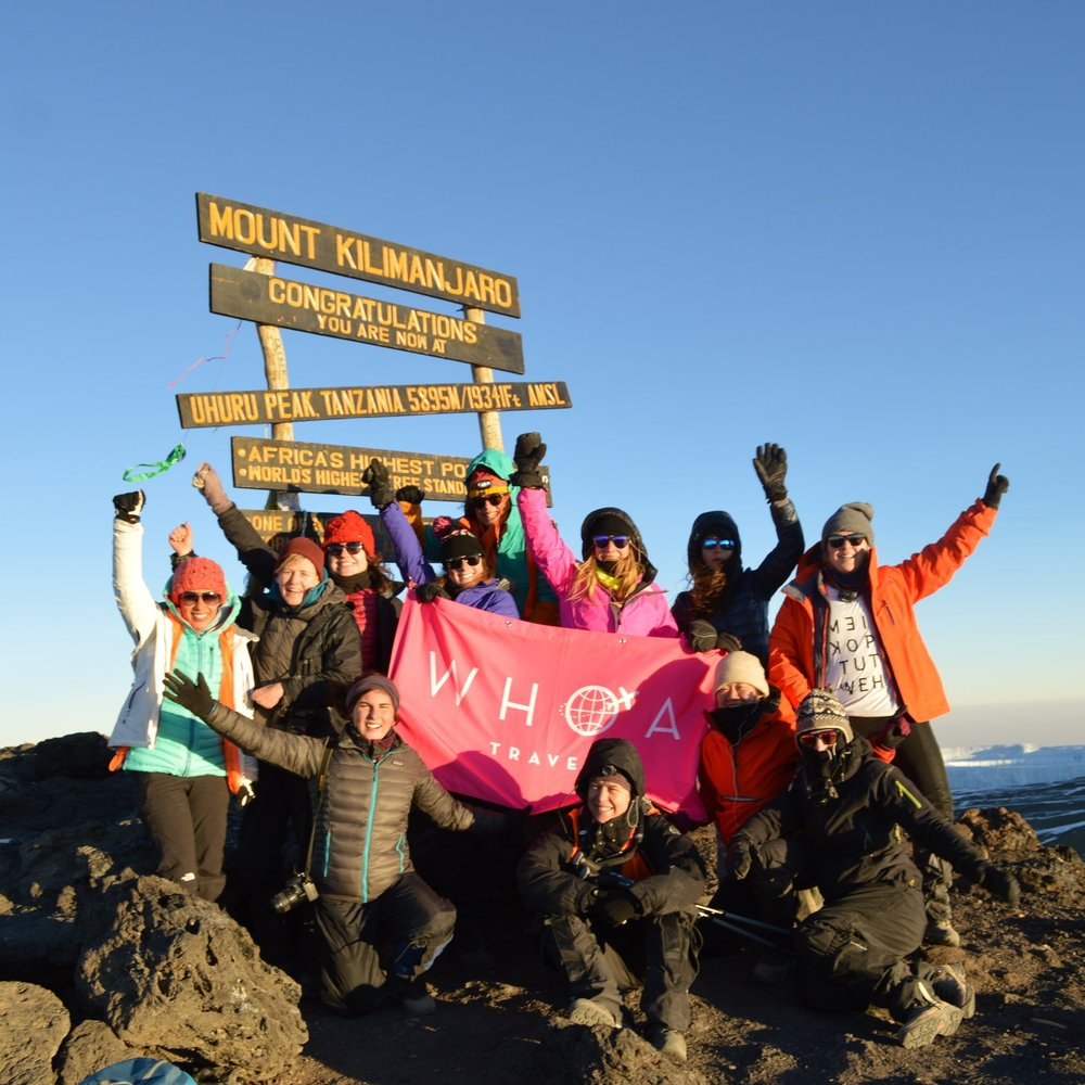 219 WOMEN FROMX COUNTRIES HAVE SUMMITED KILIMANJARO WITH WHOA  -