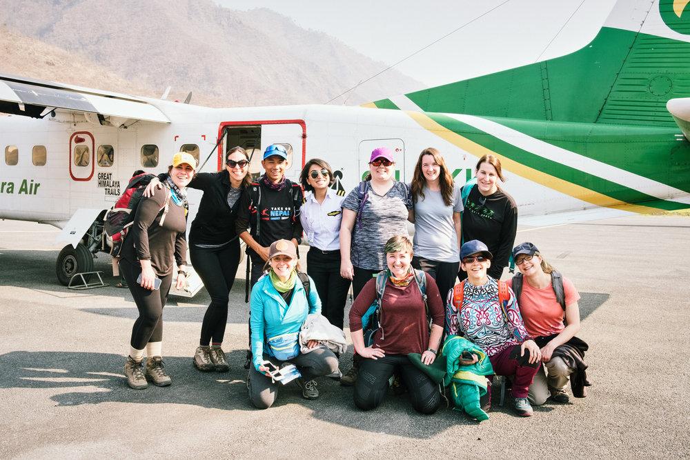 DAY 2:NAMASTE,HIMALAYAS - LUKLA to PHAKDINGElevation: 2,800 - 2,655 mDistance: 9 km
