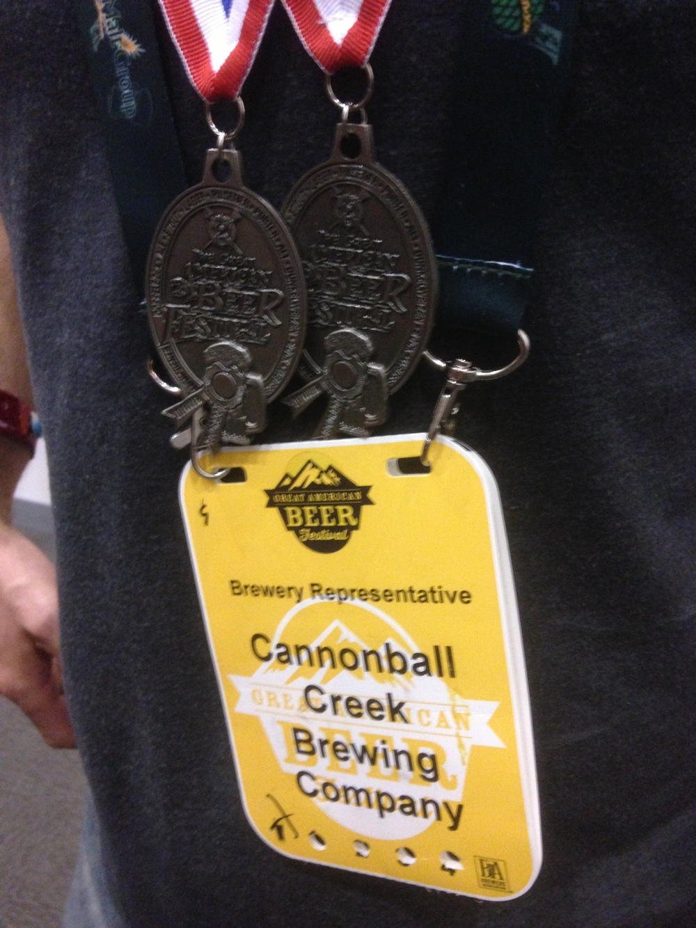 Cannonball Creek's two silver medals