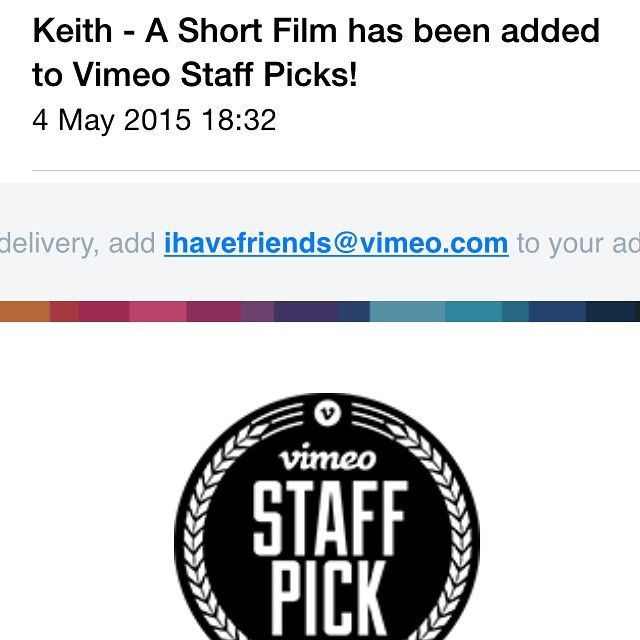 The Vimeo Staff Pick E-Mail
