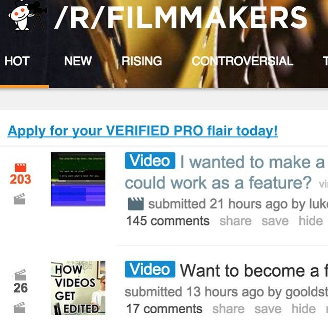 Top Link on R/Filmmakers