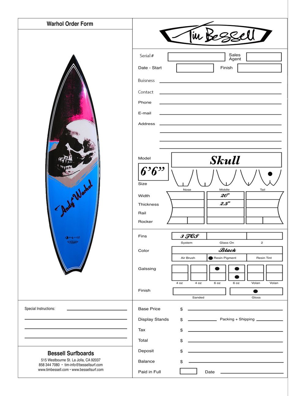 "Click Here For ""Skull"" Order Form"