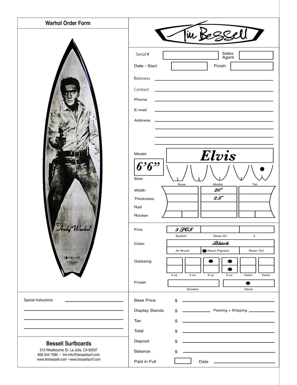 """Click Here For """"Elvis"""" Order Form"""