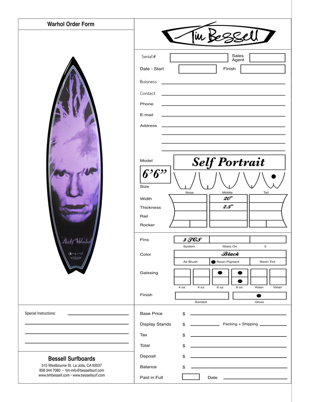 "Click Here For ""Self Portrait"" Order Form"