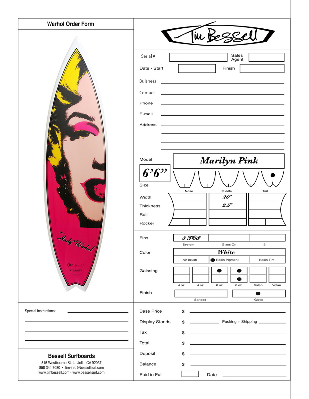 "Click Here For ""Marilyn Pink"" Order Form"
