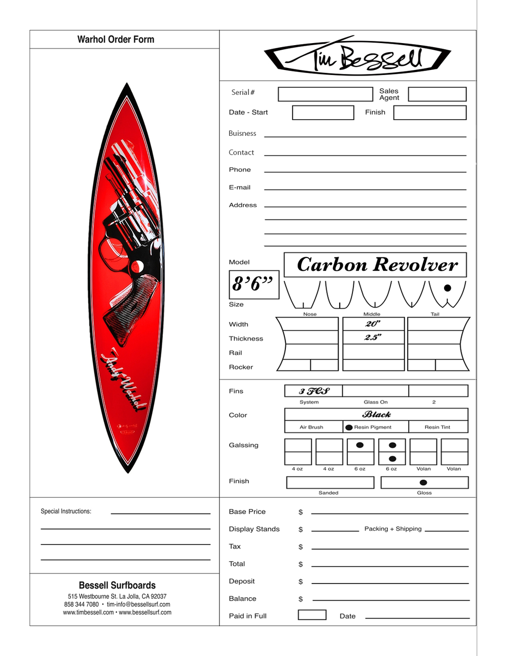 "Click Here For ""Carbon Revolver"" Order Form"