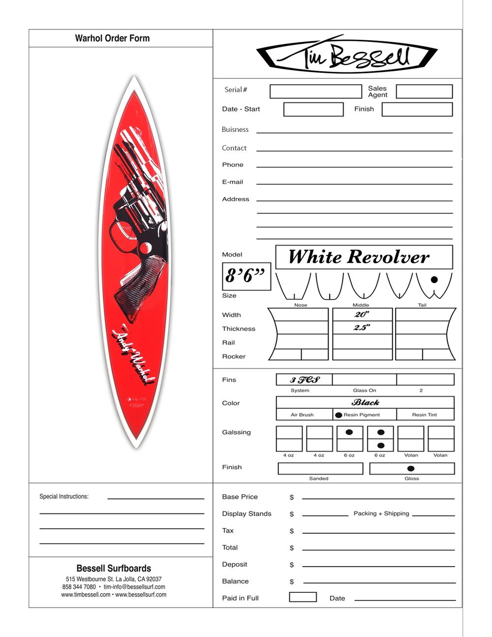 "Click Here For ""White Revolver"" Order Form"