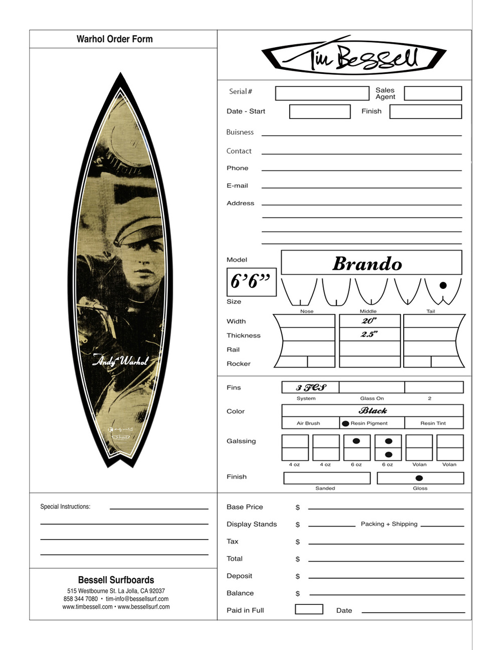 "Click Here For ""Brando"" Order Form"