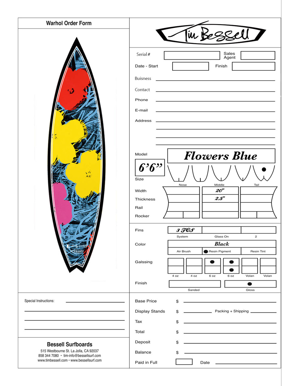 "Click Here For ""Flowers Blue"" Order Form"