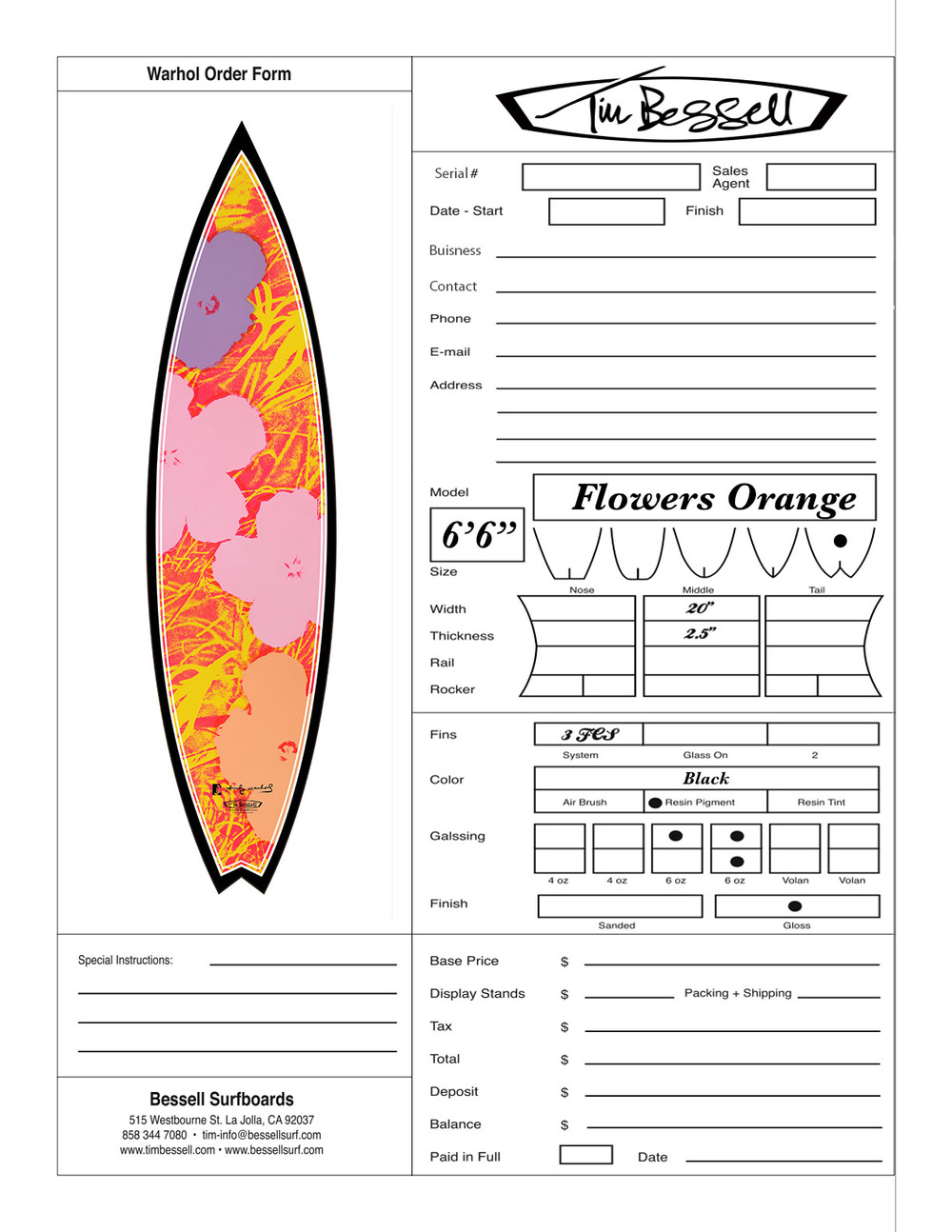 "Click Here For ""Flowers Orange"" Order Form"
