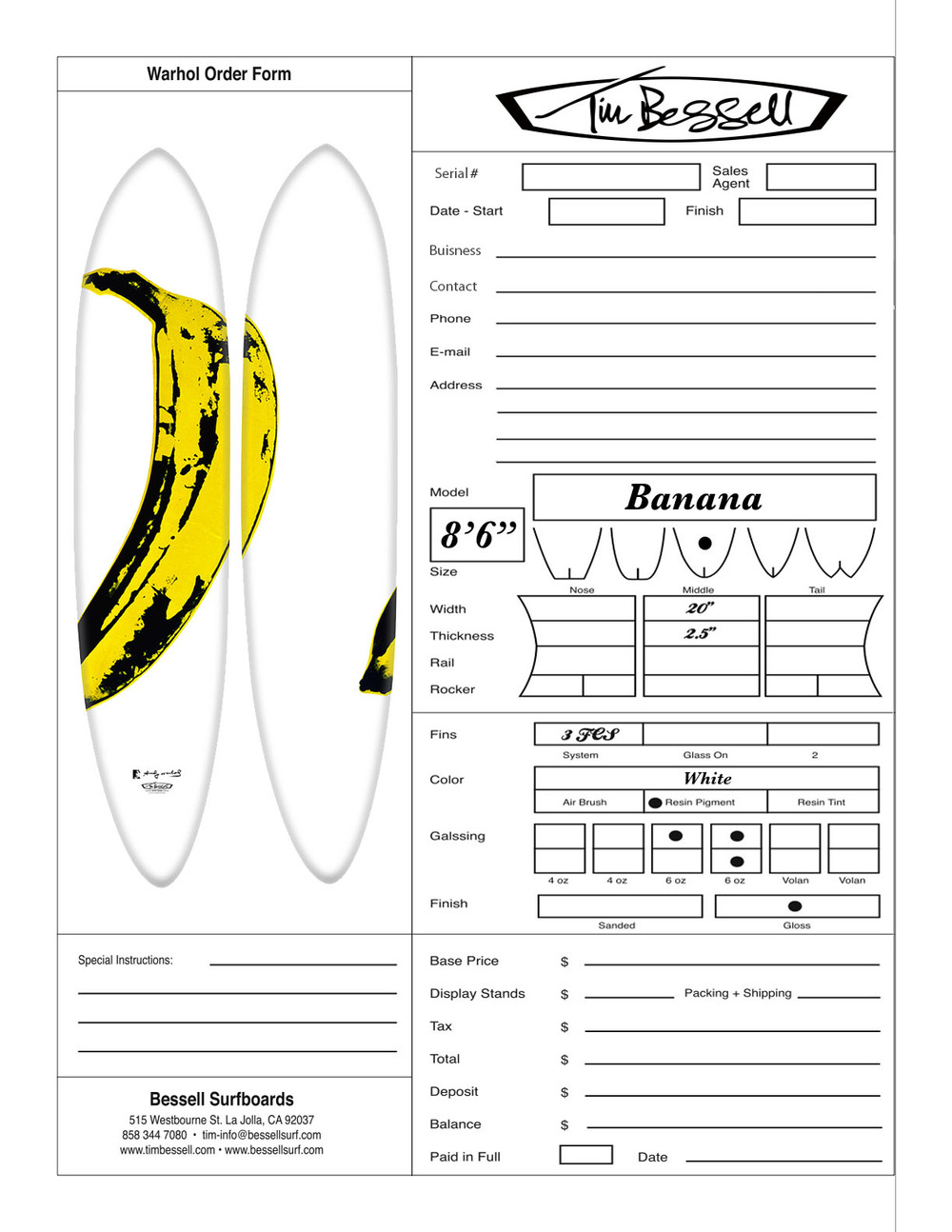 "Click Here For ""Banana"" Order Form"