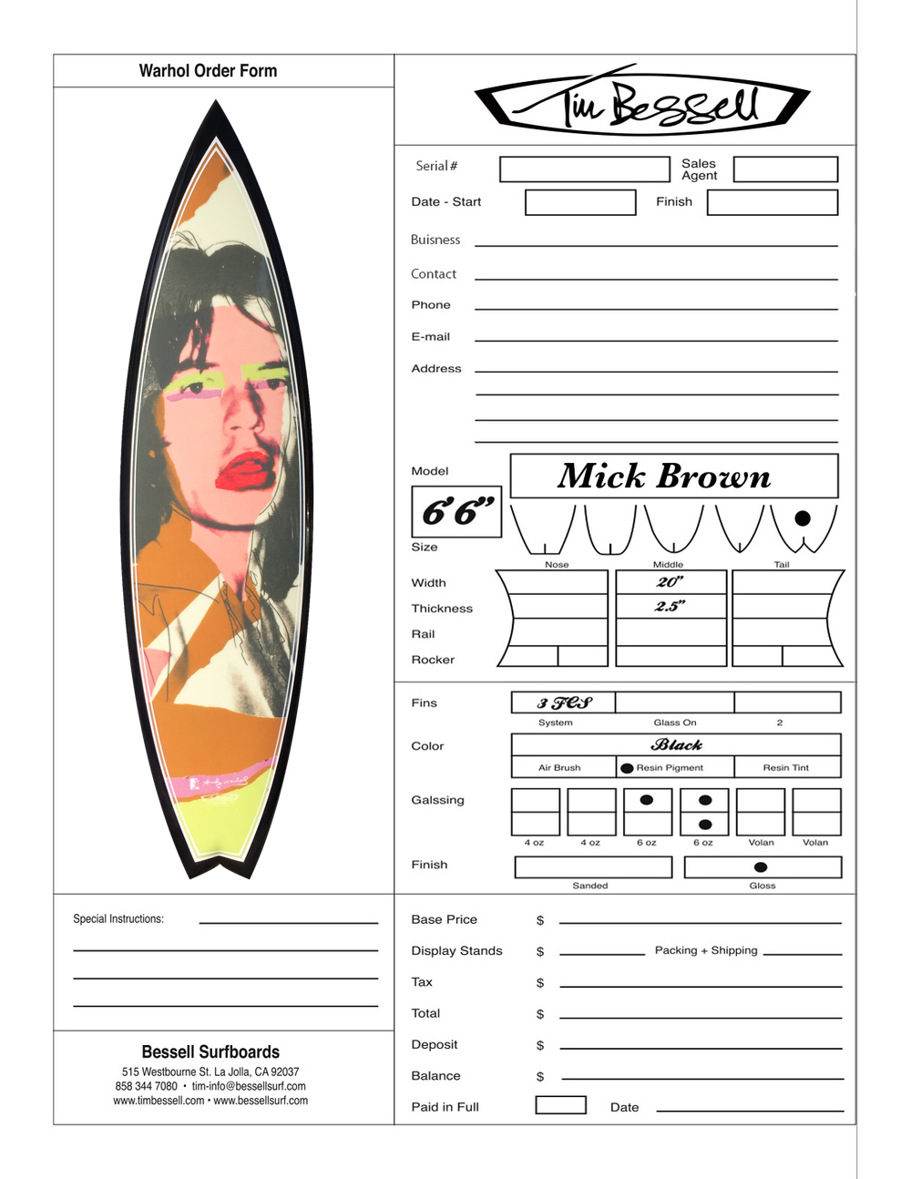 "Click Here For ""Mick Brown"" Order Form"