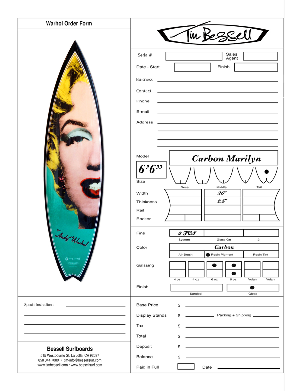 "Click Here For ""Carbon Marilyn"" Order Form"