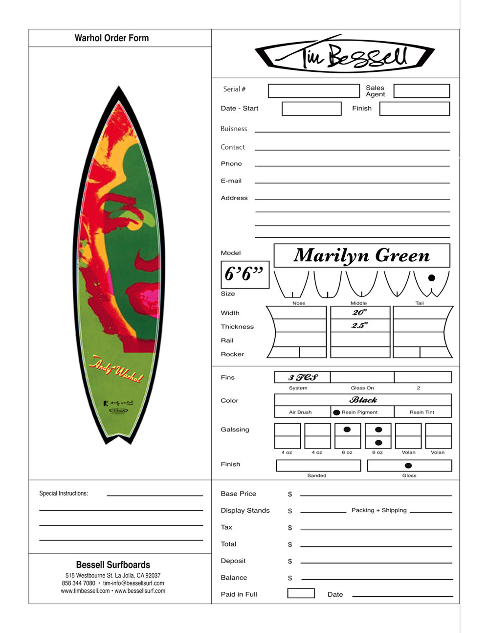 "Click Here For ""Marilyn Green (Black)"" Order Form"