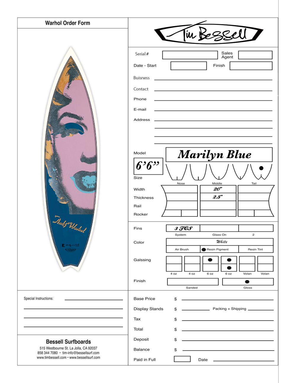 "Click Here For ""Marilyn Blue (White)"" Order Form"