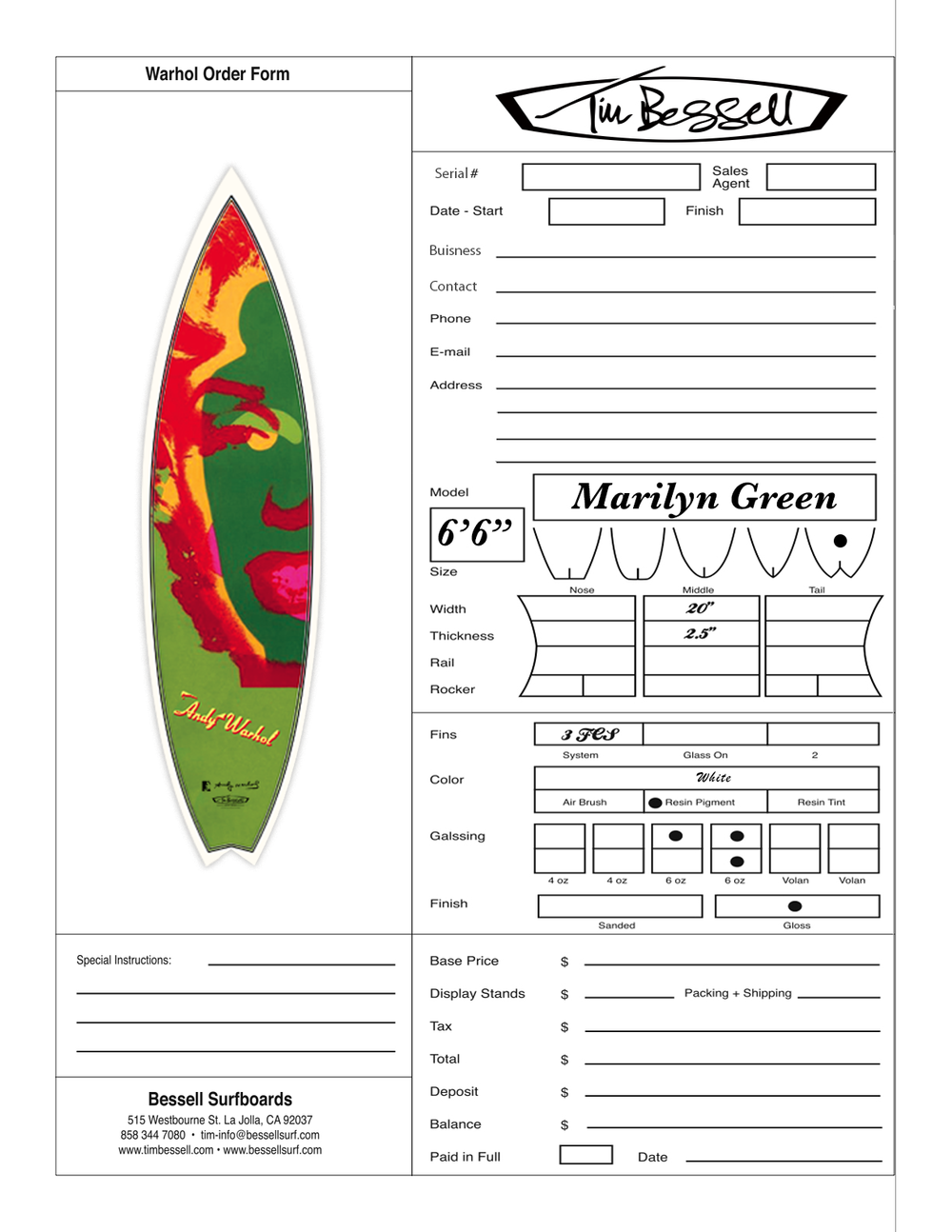 "Click Here For ""Marilyn Green (White)"" Order Form"