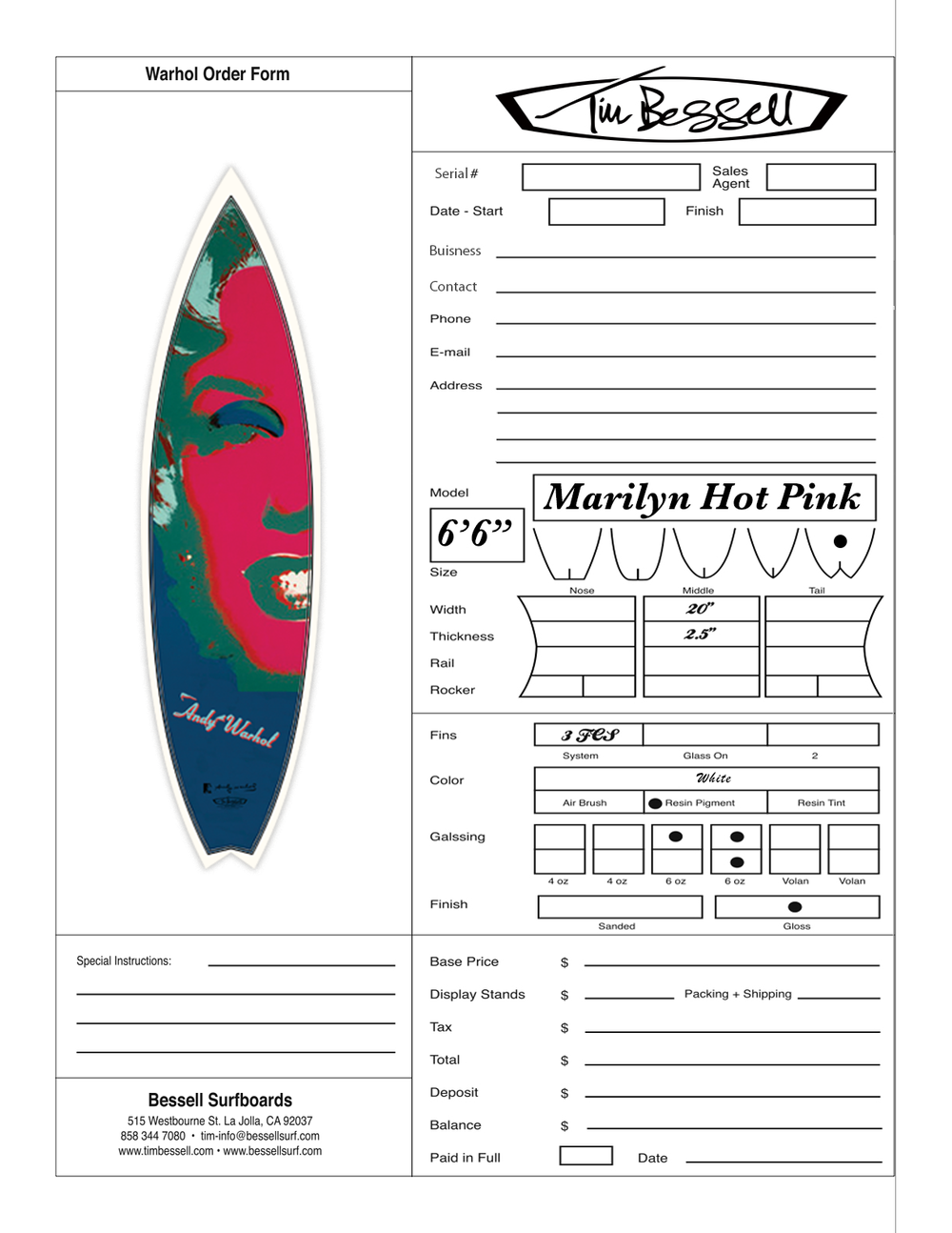 "Click Here For ""Marilyn Hot Pink"" Order Form"