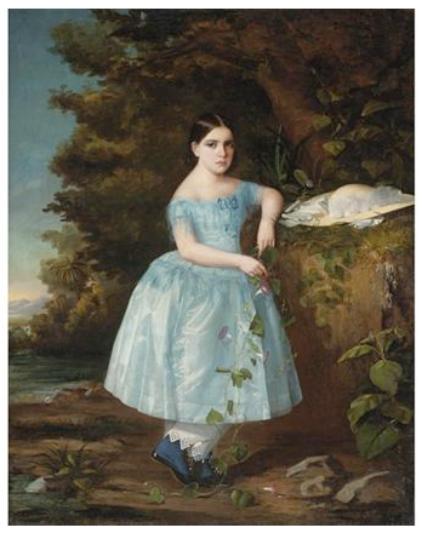 Portrait of a Young Girl. Martín Tovar y Tovar. 1858