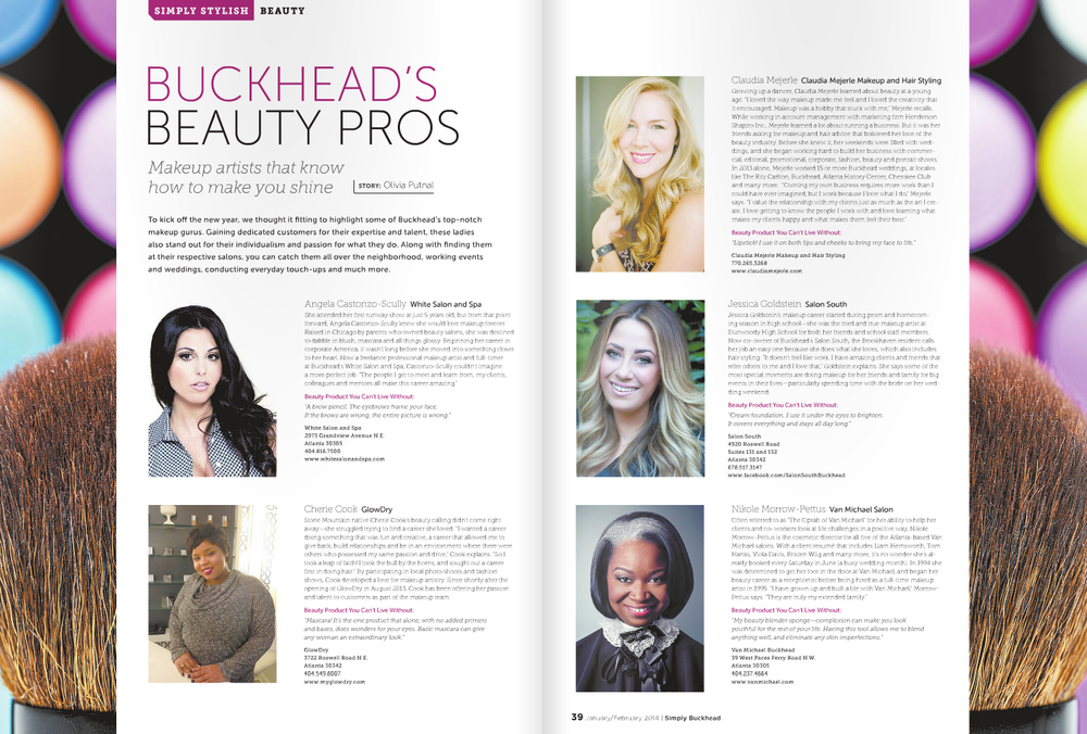 Simply Buckhead Jan/Feb 2014 - Buckhead Beauty Pros