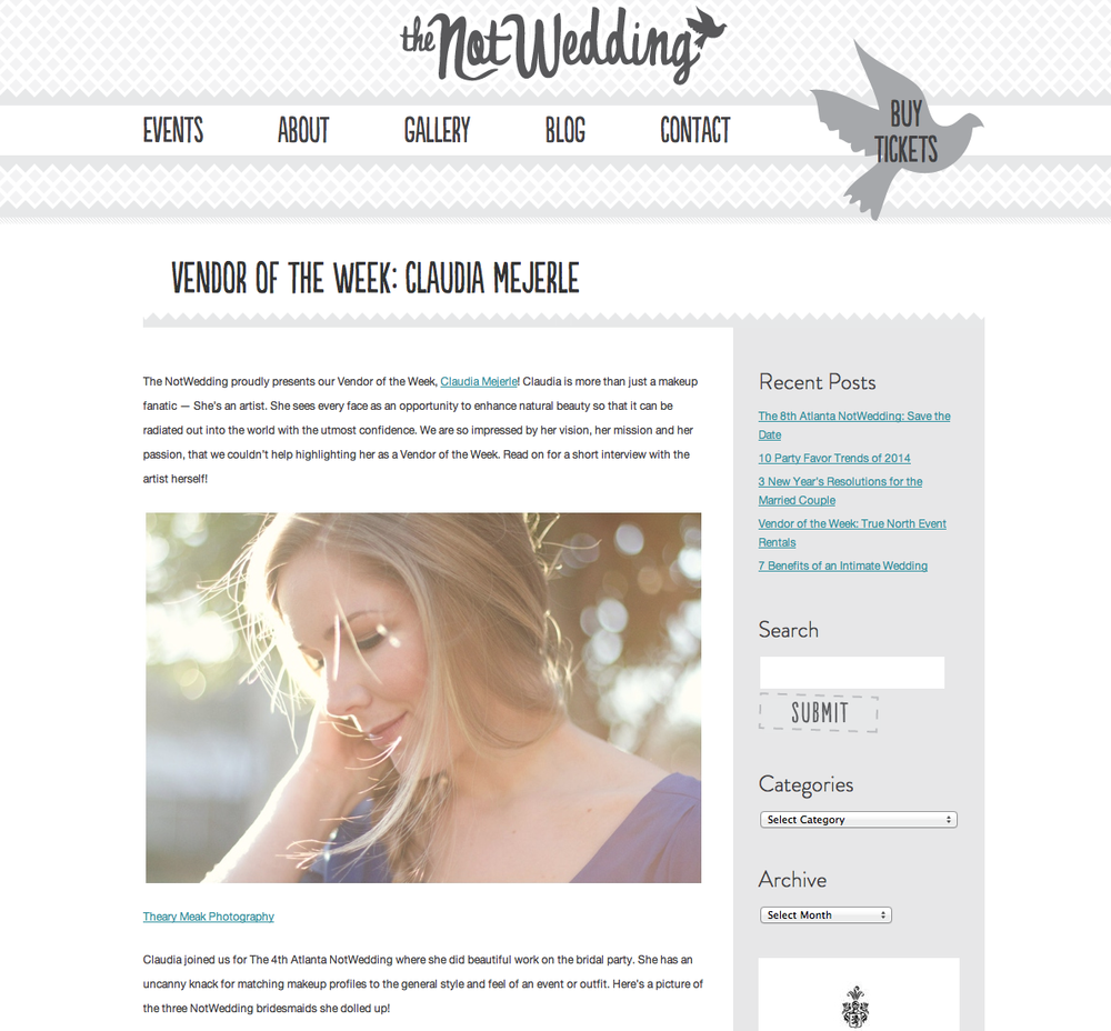The NotWedding Blog - Vendor of the Week: Claudia Mejerle
