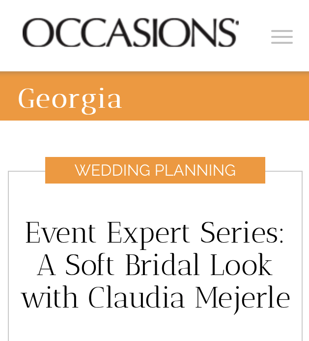 Occasions Magazine // Event Expert Series: Claudia Mejerle