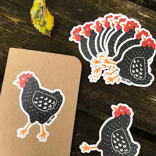 Just what we need for #fall- #silkoak #Chicken stickers!