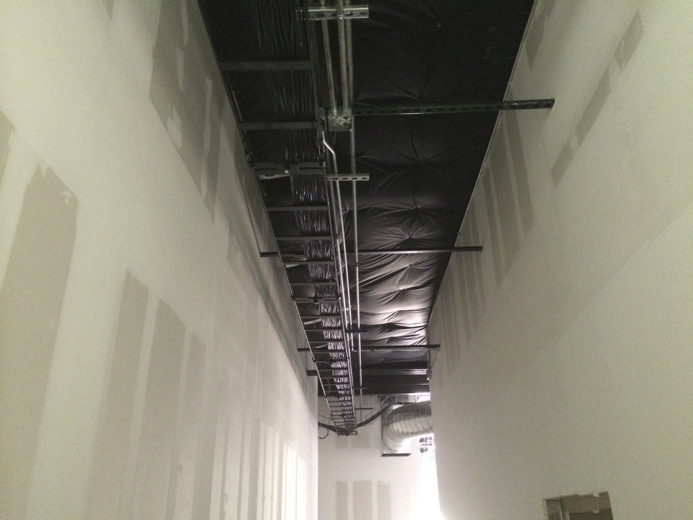 All of our ethernet and a/v cables will be run up in these cable tracks.