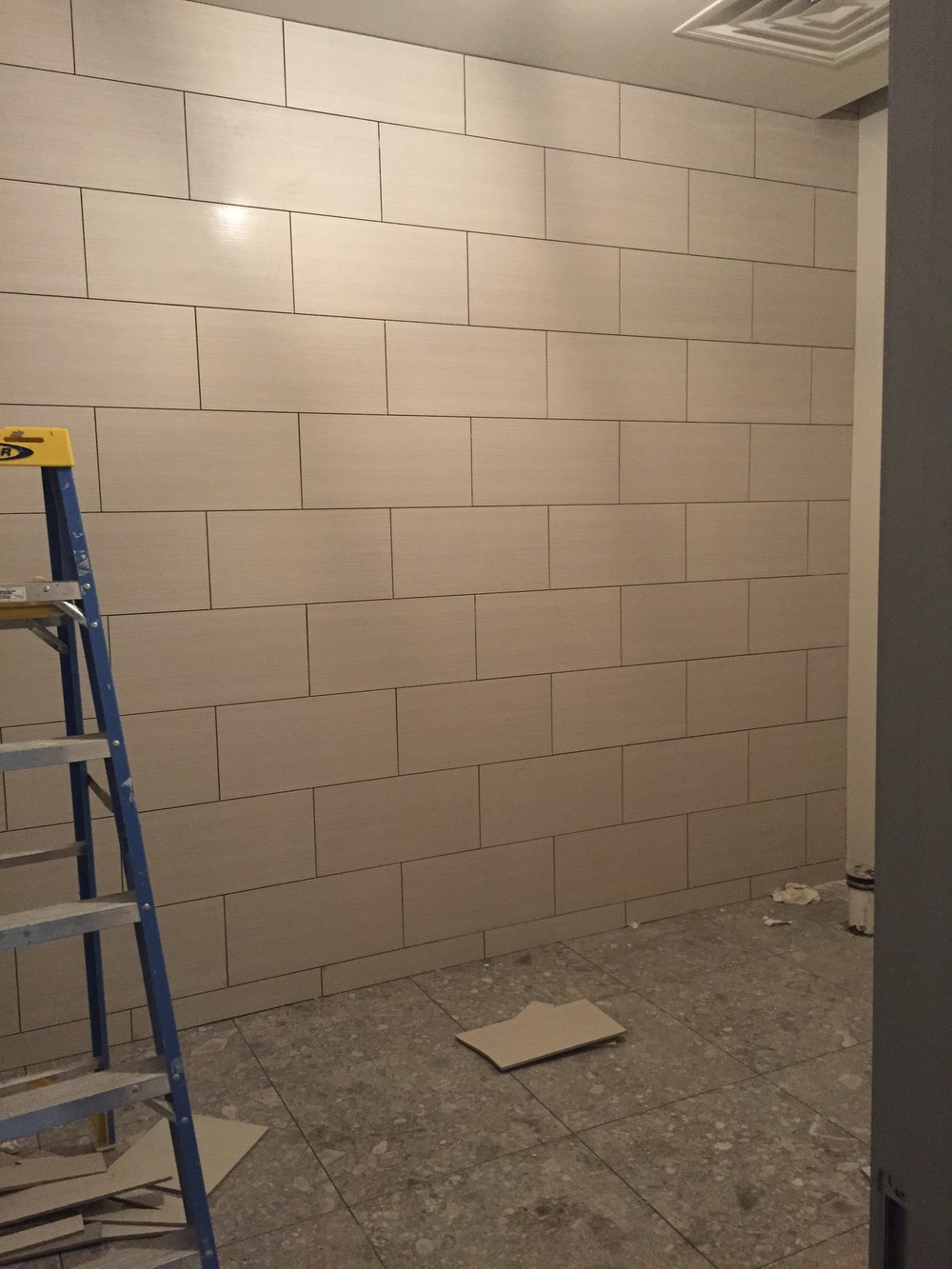 Bathrooms are getting tiles