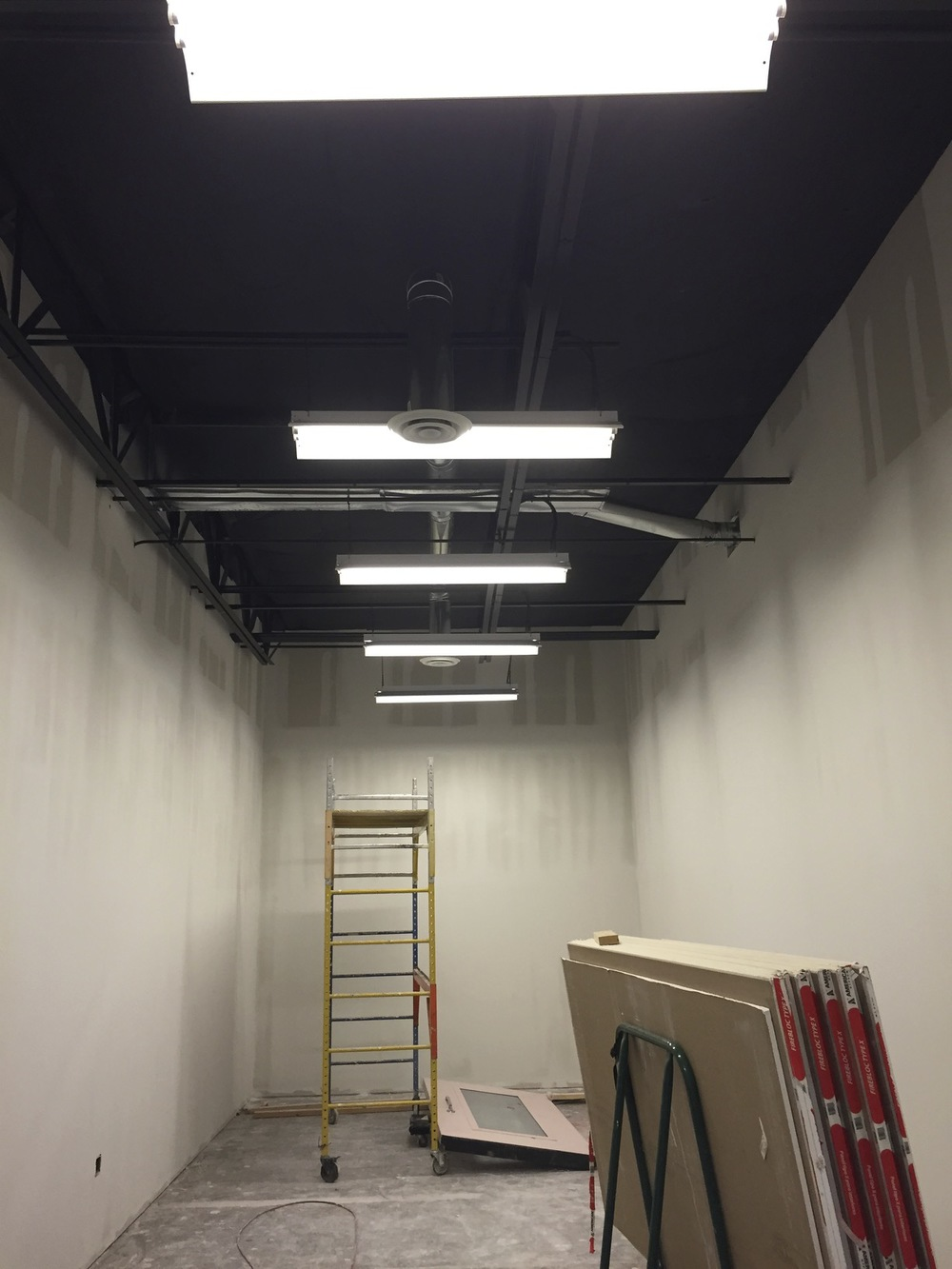 And finally... we have a room with actual lights! This is our equipment room next to the studio.
