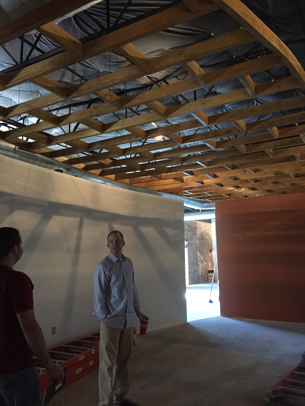 Check out this wooden structure in our big collab space.