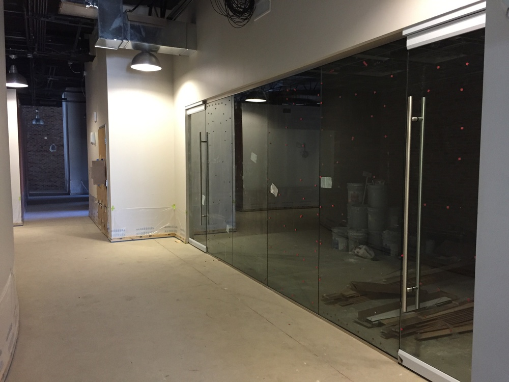 Back inside... This is the glass door/wall for the conference room. Those doors open so smoothly!