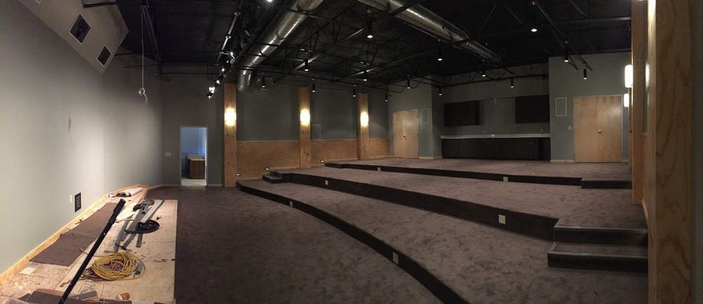 The theater is carpeted!