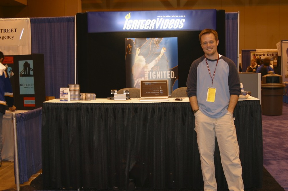 Rob Thomas attending his first conference in 2003.