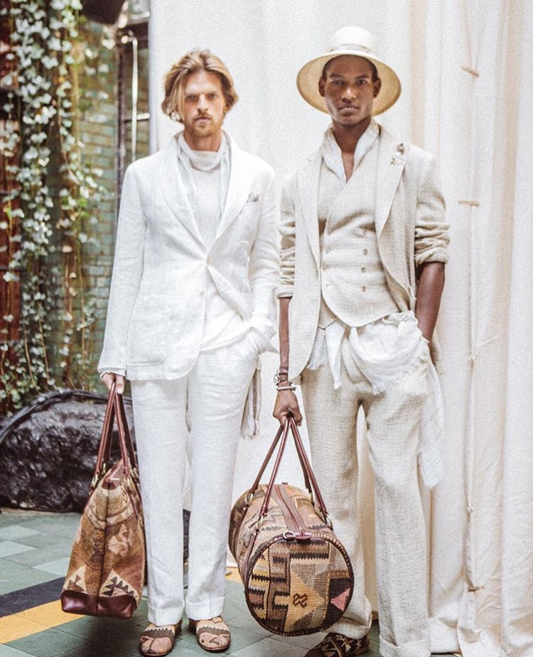 A favorite look from the SS17 Joseph Abboud runway show, featuring Artemis Design Co. shoes and travel bags. Photo from Joseph Abboud.