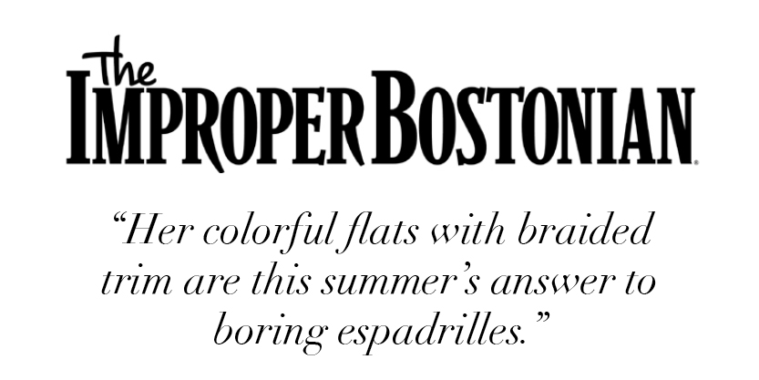 """Her colorful flats with braided trim are this summer's answer to boring espadrilles."" -The Improper Bostonian"