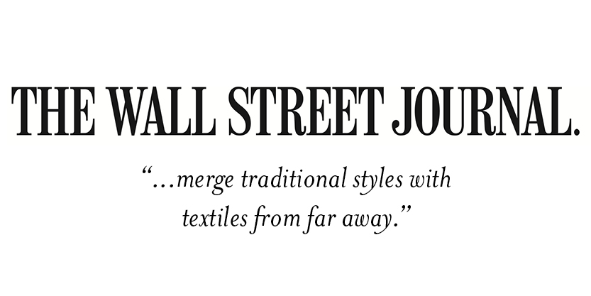 The Wall Street Journal  Merge traditional style with textile from far away