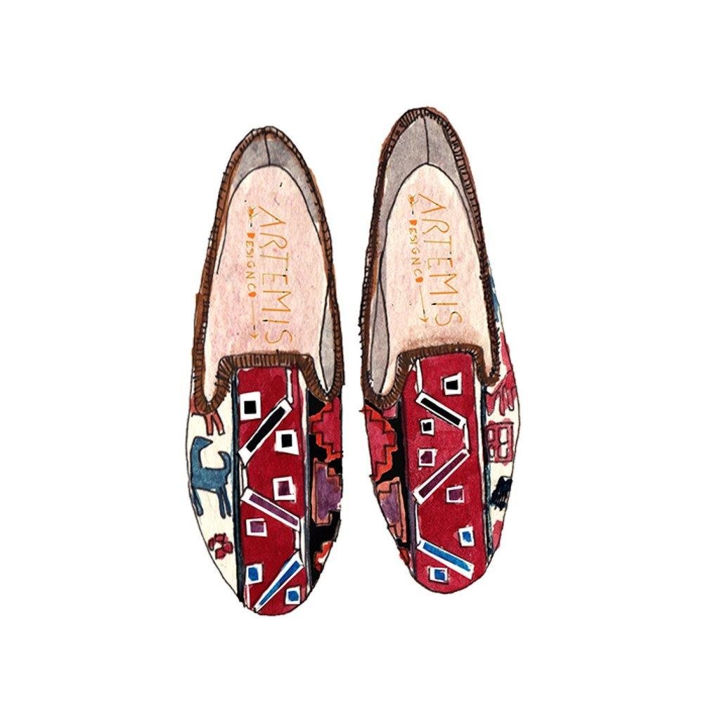 Women's Havana Smoking Shoe - For the bold pattern loving lady